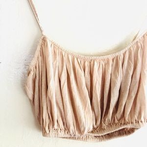 Zara Tops - Zara blush pink strappy crop top size Small